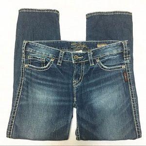 Silver Jeans Frances Distressed Capri Cropped
